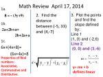 math review april 17 2014