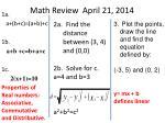 math review april 21 2014