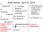 math review april 22 2014