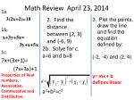 math review april 23 2014