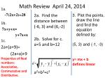 math review april 24 2014
