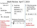 math review april 7 2014