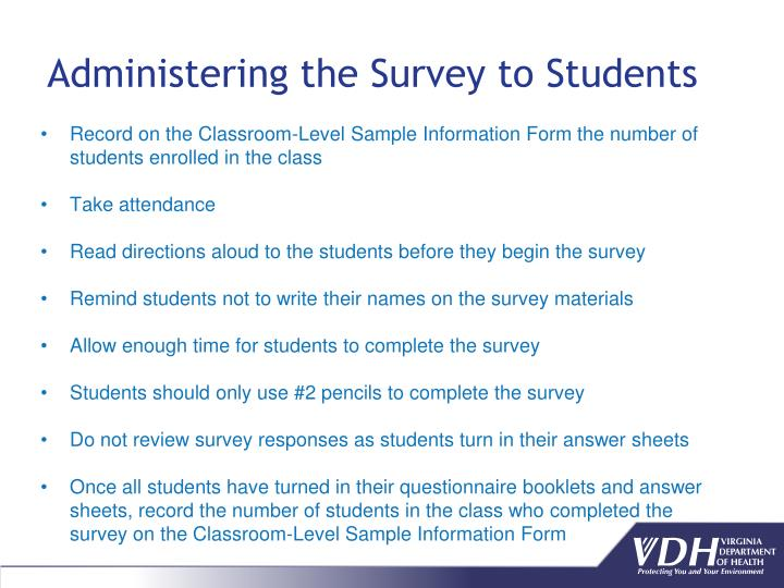 Administering the Survey to Students