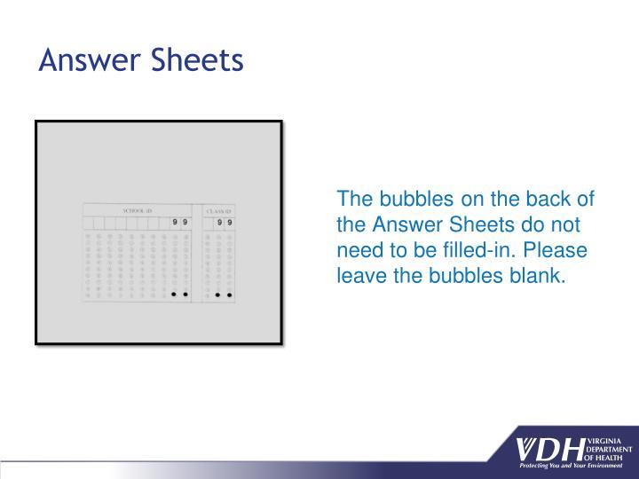 Answer Sheets