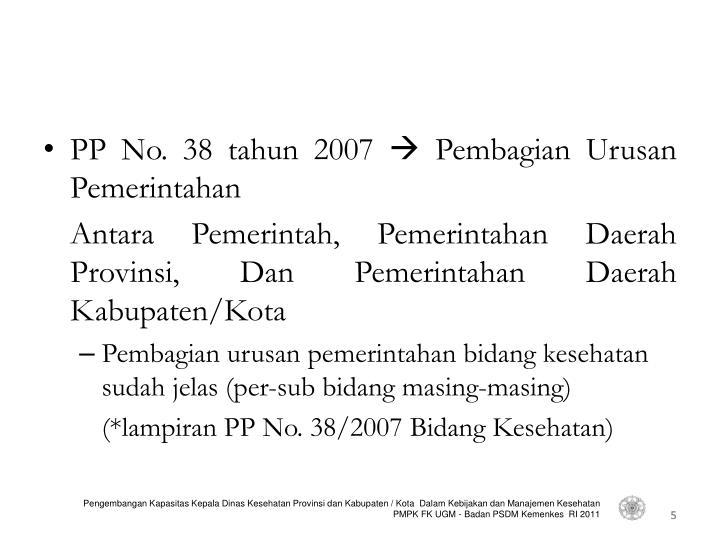 PP No. 38