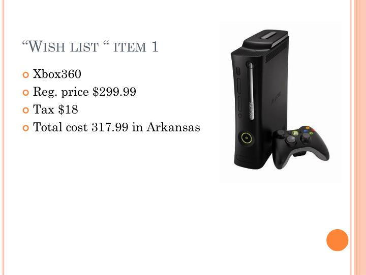 """Wish list "" item 1"