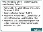 prc 006 wecc crt 1 underfrequency load shedding criterion