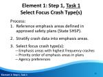 element 1 step 1 task 1 select focus crash type s3