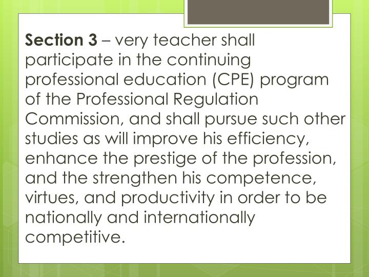 Code Of Ethics For Professional Teacher