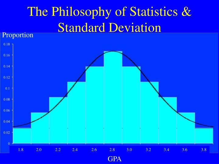 The Philosophy of Statistics & Standard Deviation