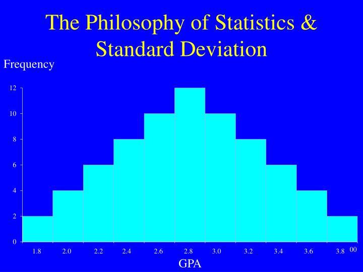 The philosophy of statistics standard deviation