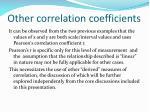 other correlation coefficients