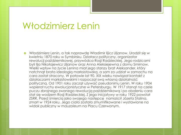 Włodzimierz Lenin