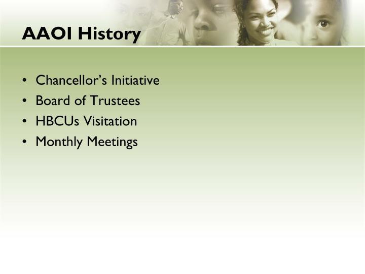 Aaoi history