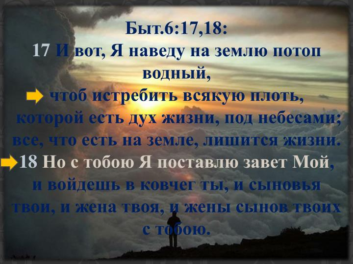 Быт.6:17,18: