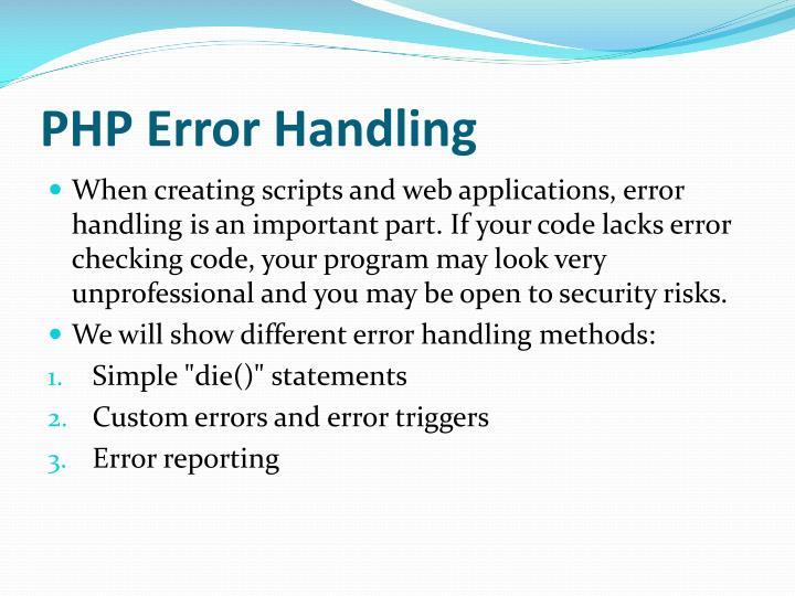 Php error handling1
