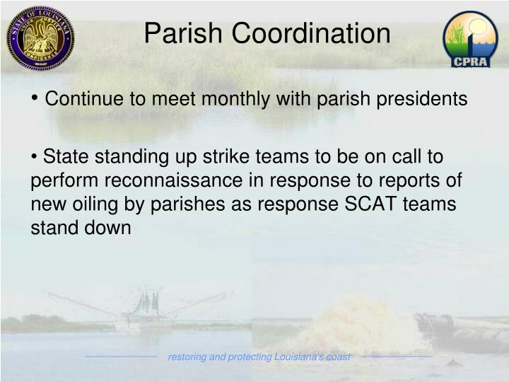 Parish Coordination