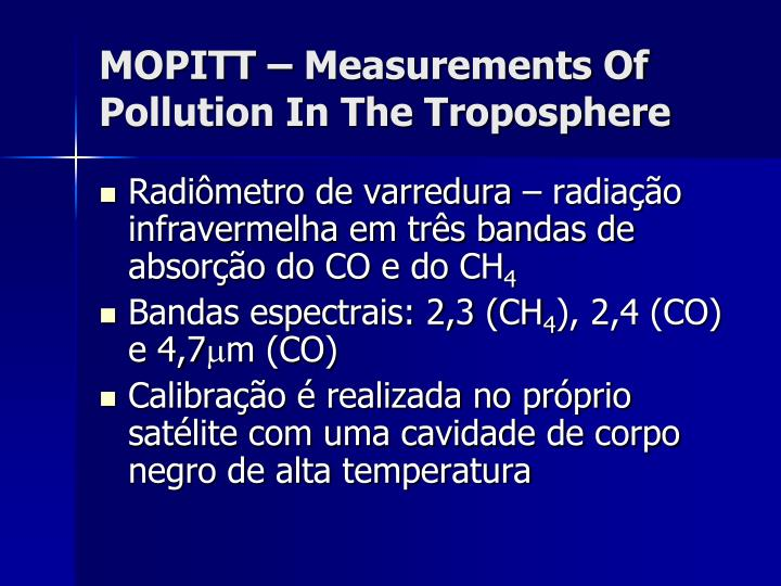 MOPITT – Measurements Of Pollution In The Troposphere