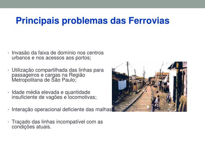 Principais problemas das Ferrovias