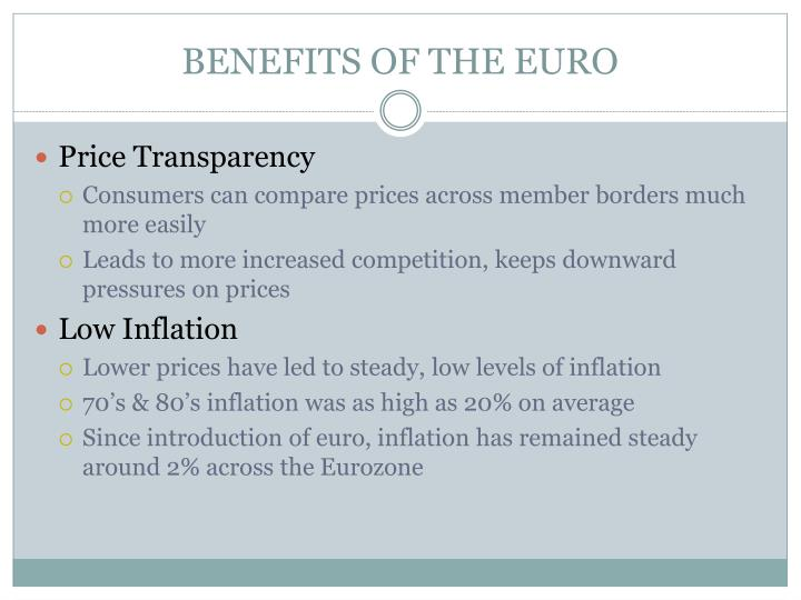 BENEFITS OF THE EURO