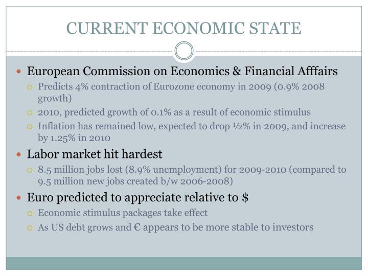 CURRENT ECONOMIC STATE