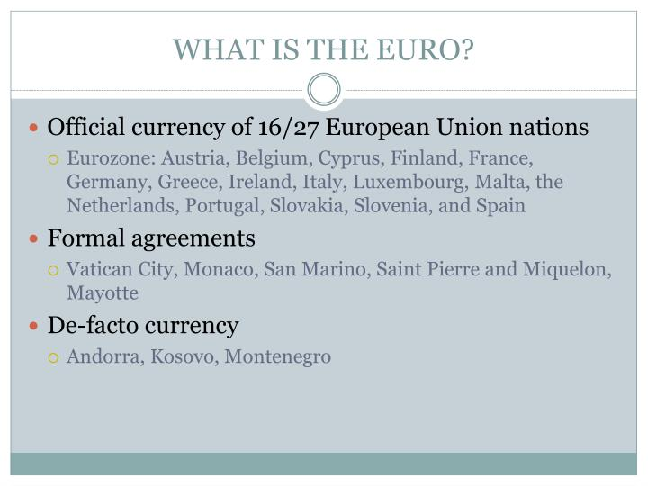 What is the euro
