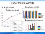 experiments cont d3