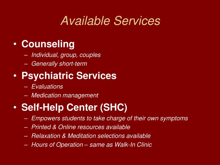 Available Services