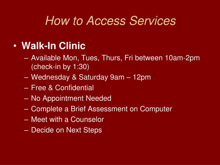 How to Access Services