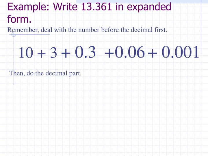 Ppt Reading And Writing Decimals Powerpoint Presentation Id3242687