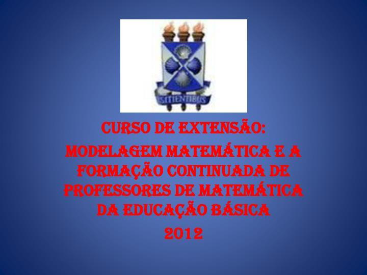 CURSO DE EXTENSÃO: