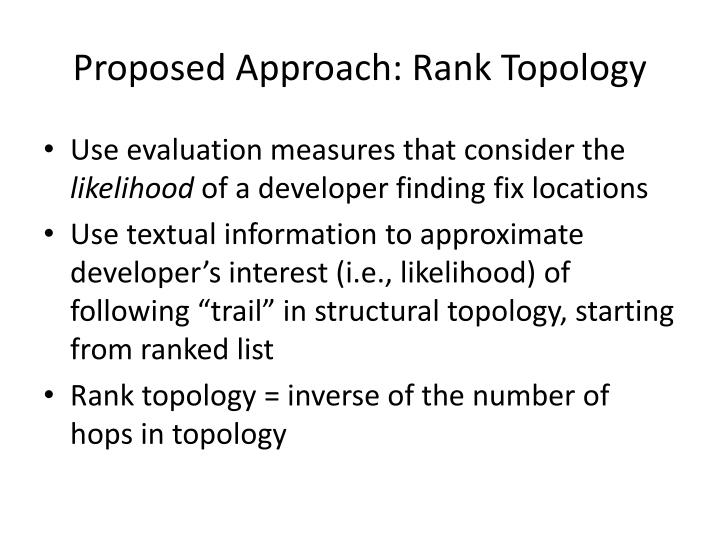 Proposed Approach: Rank Topology