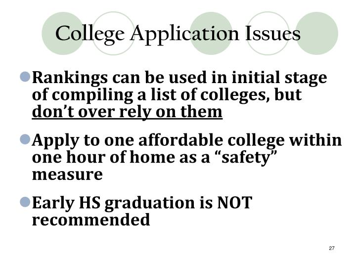 College Application Issues