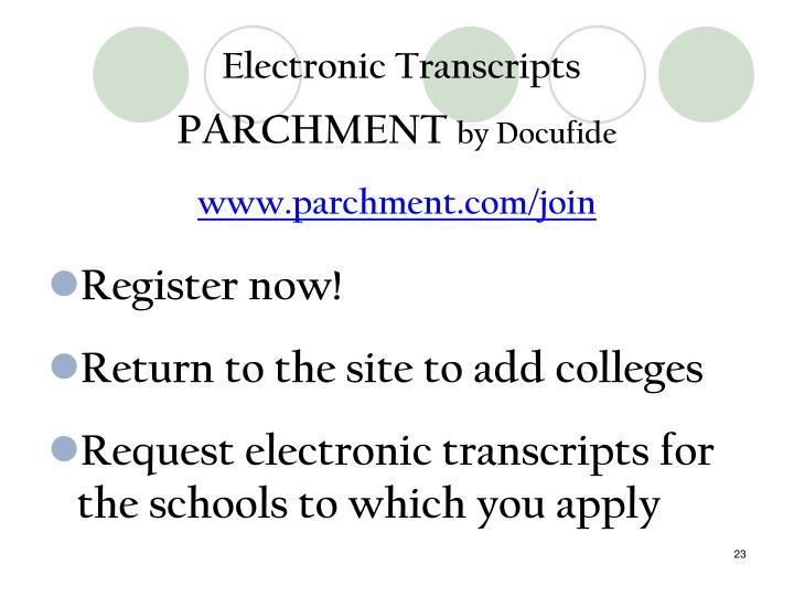 Electronic Transcripts