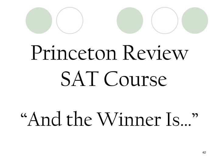 Princeton Review SAT Course