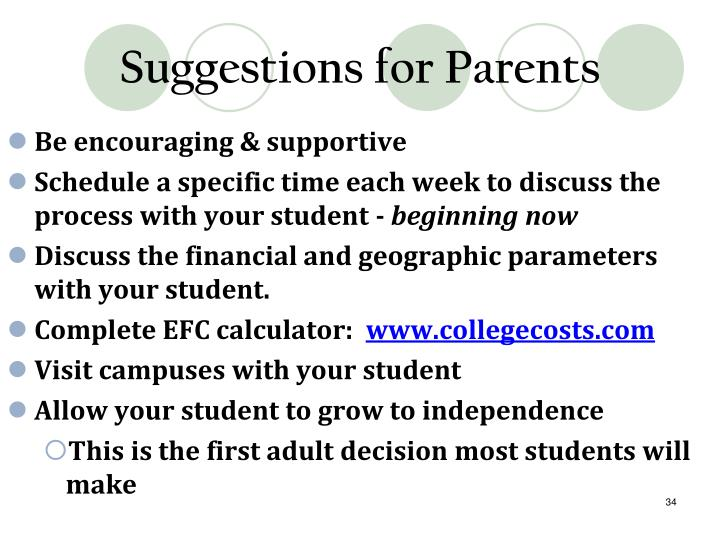 Suggestions for Parents