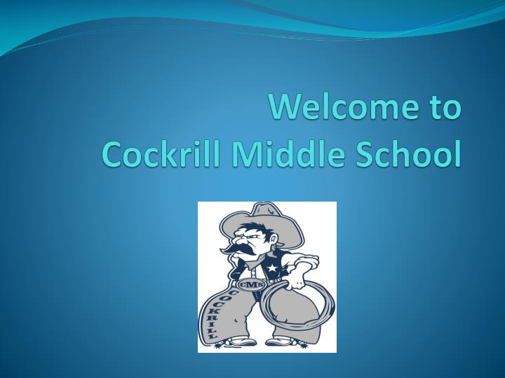 welcome to cockrill middle school n.