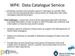 wp4 data catalogue service