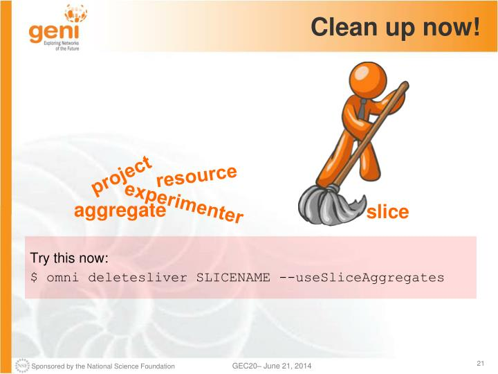 Clean up now!