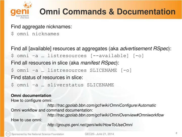 Omni Commands & Documentation