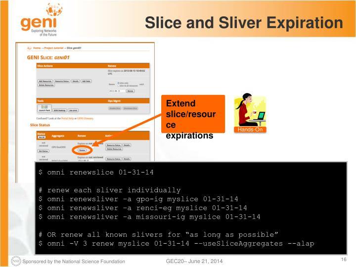 Slice and Sliver Expiration