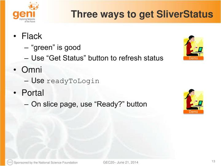 Three ways to get