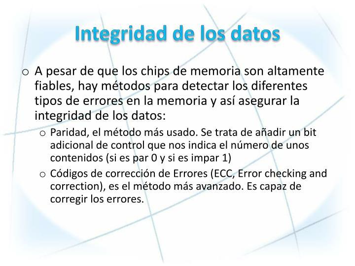 Integridad de los datos