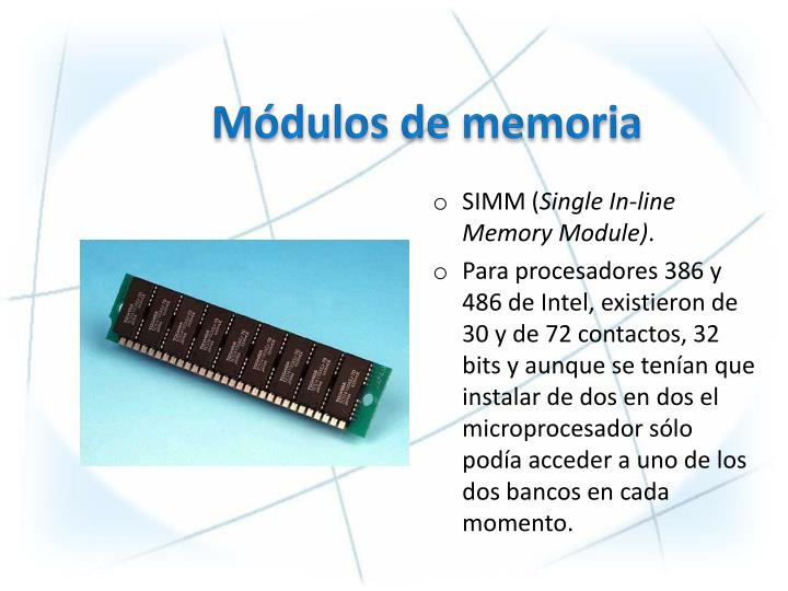 Módulos de memoria