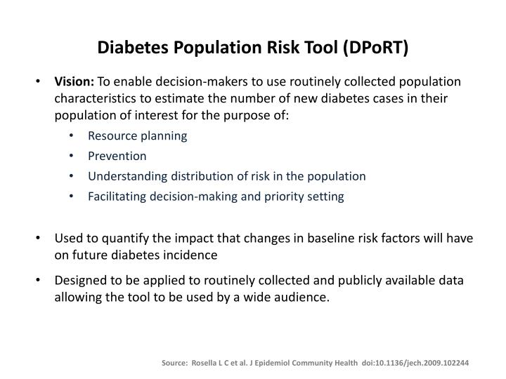 Diabetes population risk tool dport