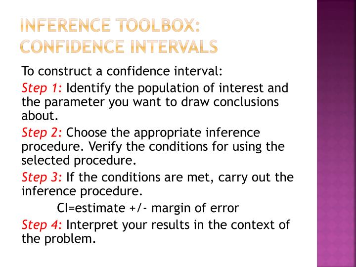 Inference Toolbox: Confidence Intervals