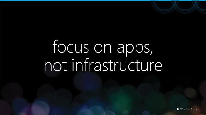 focus on apps,
