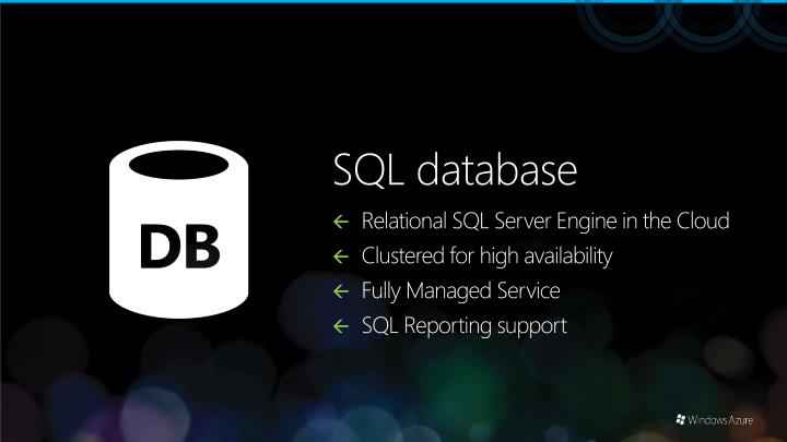 Relational SQL Server Engine in the Cloud