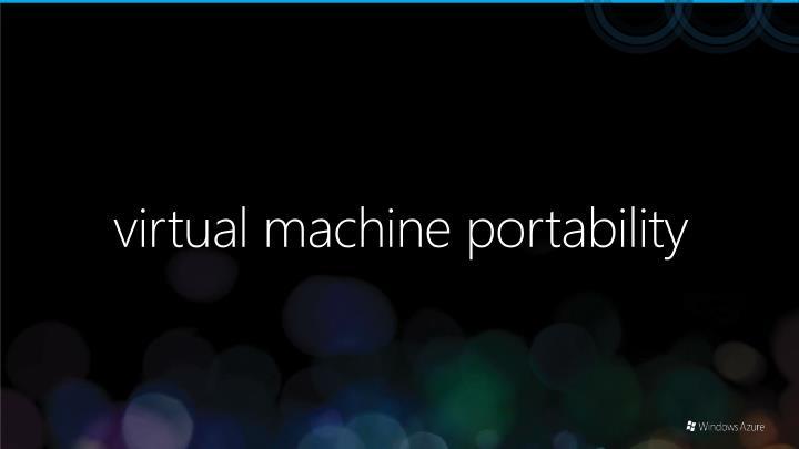 virtual machine portability