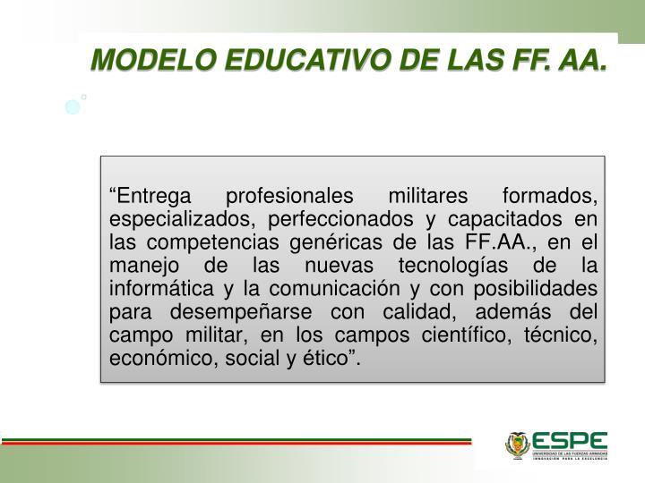MODELO EDUCATIVO DE LAS FF. AA
